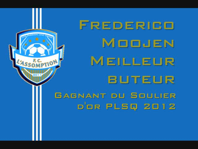 Meilleur buteur PLSQ 2012 Fred Moojen